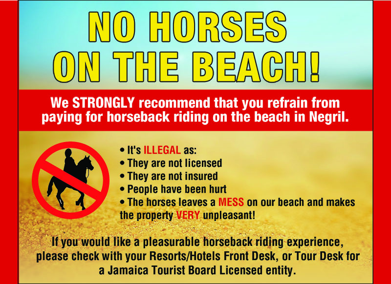 No Horses On The Beach in Negril