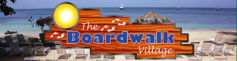 Go to The Boardwalk Village Web Site - Rooms, Shops, Lobster Tail Restaurant, and Beach, Norman Manley Boulevard, Negril, Jamaica