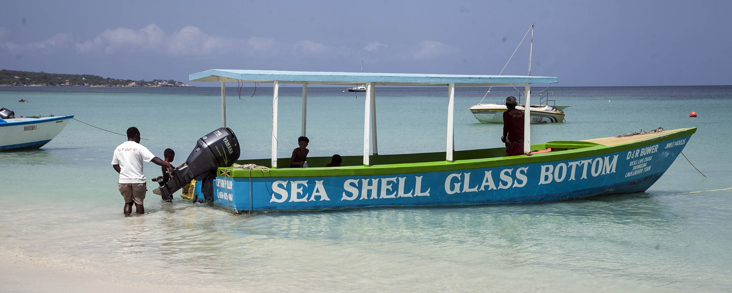 Sea Shell Glass Bottom Boat - Negril Beach, Negril Jamaica
