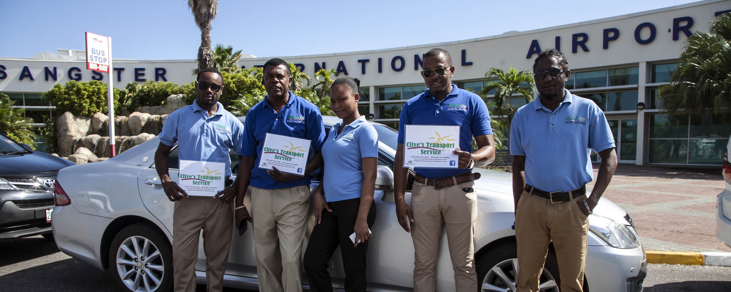 Clive's Transport Service Jamaica @ Sangster International Airport - Montego Bay Jamaica